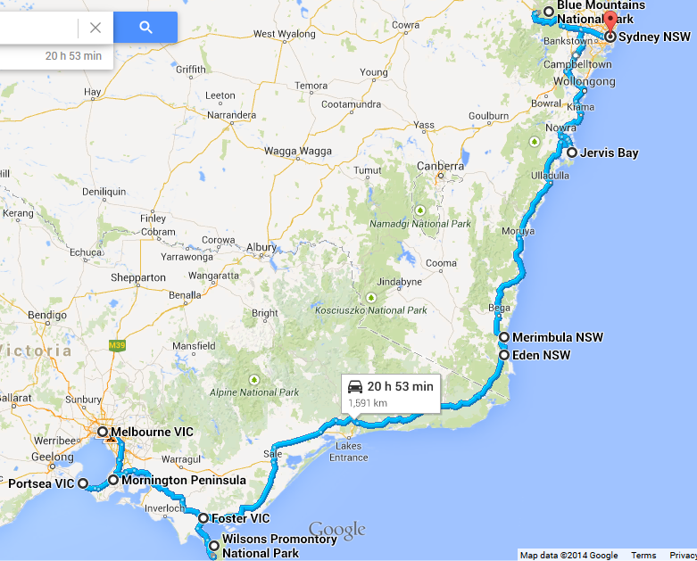 melbourne to sydney road trip stops - photo#35